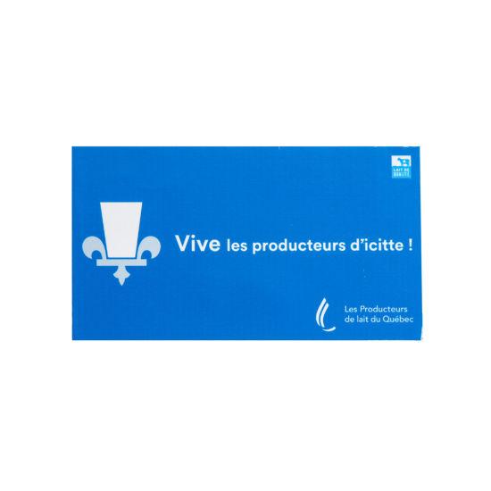 Picture of Electrostatic ''Vive les producteurs d'icitte!''