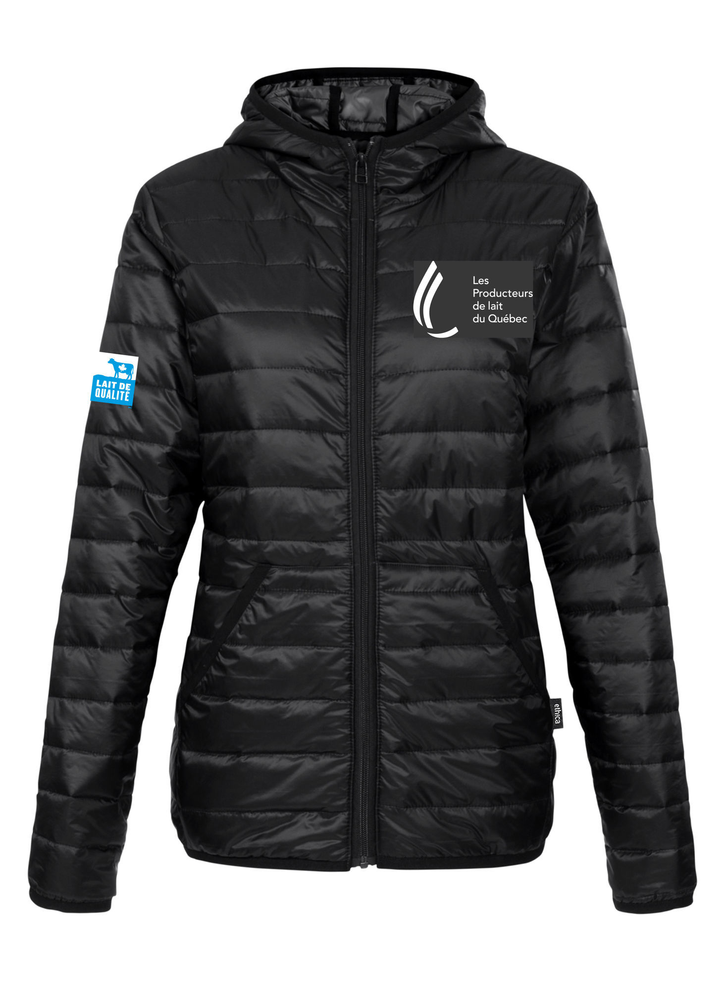 Picture of Black Quilted Coat Women