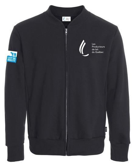 Picture of Unisex black fleece jacket
